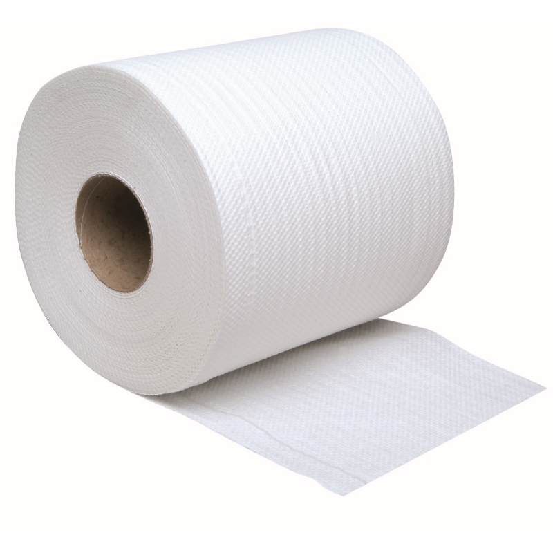 Embossed Centrefeed Roll 150M, White 2 ply