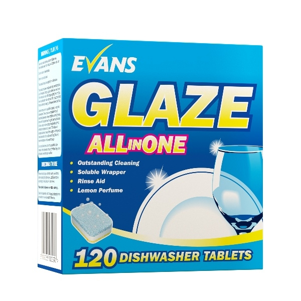 Evans Glaze Dishwash Tablets x 120