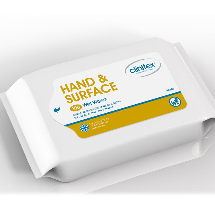 Clinitex Hand & Surface Wipes100