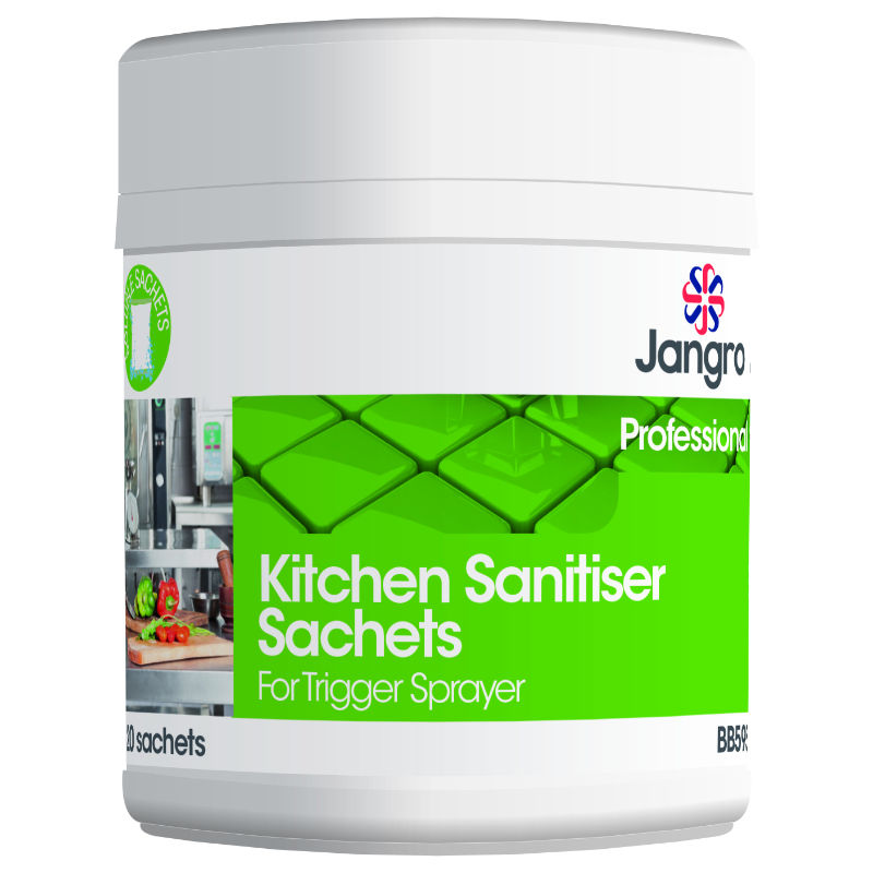 Kitchen Sanitiser Sachets x 20For Trigger Sprayers