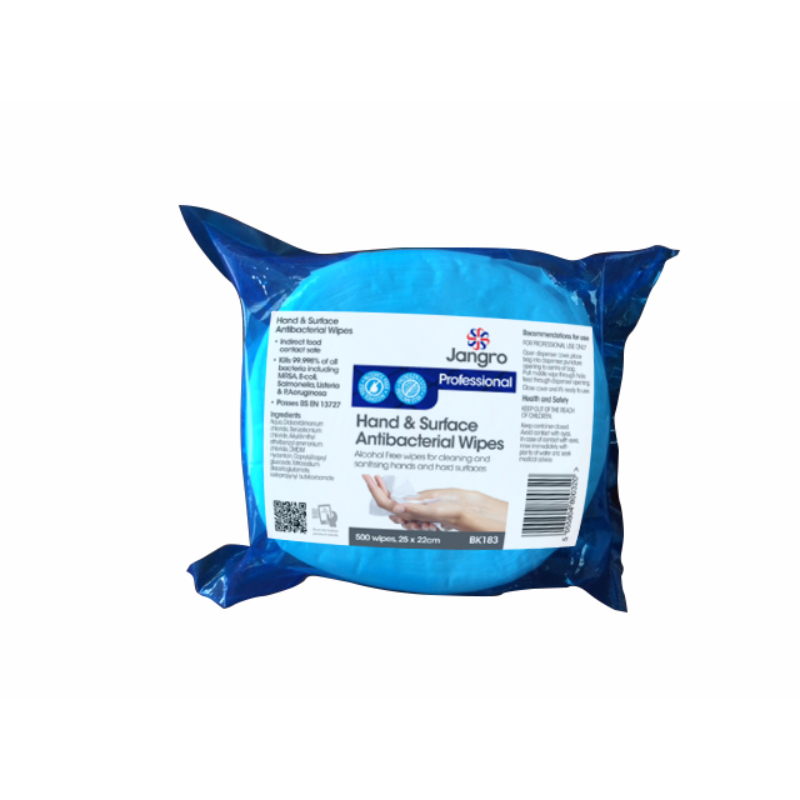 Hand & Surface Antibacterial Wipes