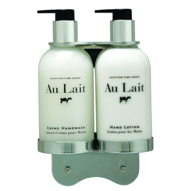 Chrome 300ml Double Bottle Holder for Sea Kelp & Au Lait Range