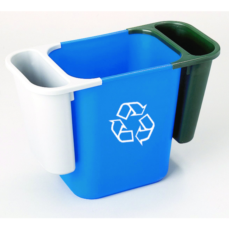 Deskside Recycling Bin Blue 39L (Does not include 2 side bins)