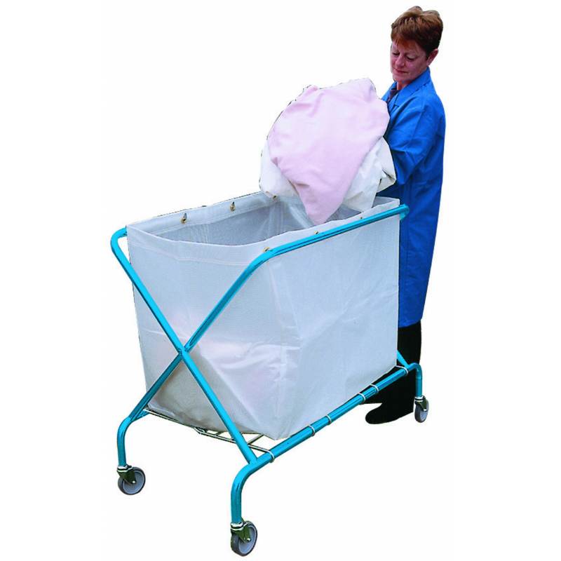 Service Cart 320Ltr H/Duty with Translucent Vinyl Sack