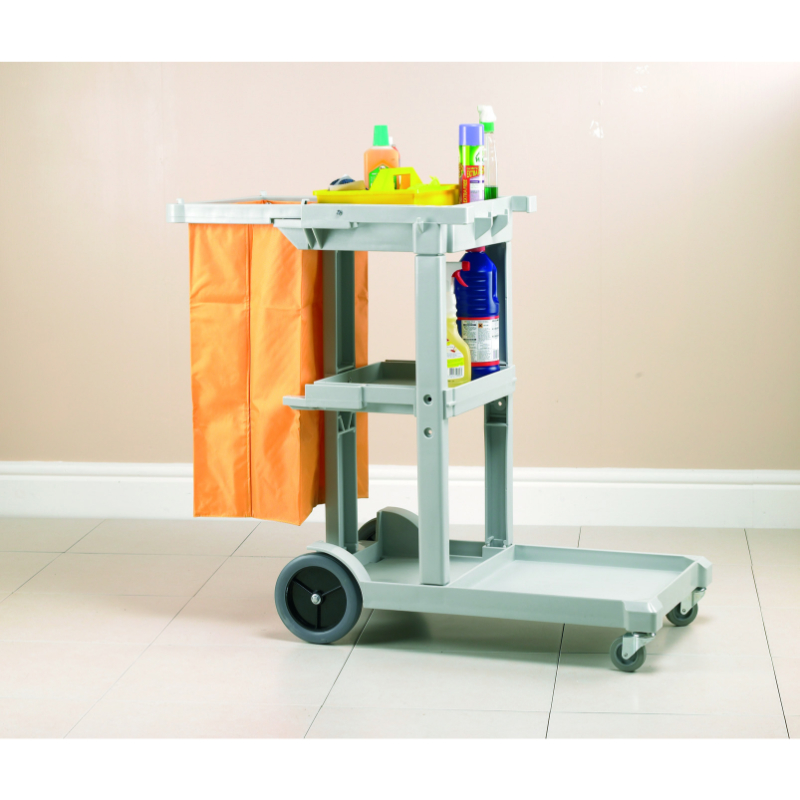 Jolly Trolley Janitorial Cart c/w bag