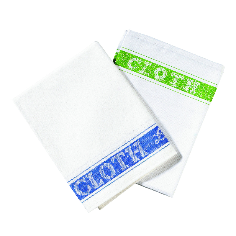 Linen Union Glass Cloth, Green Pack 10