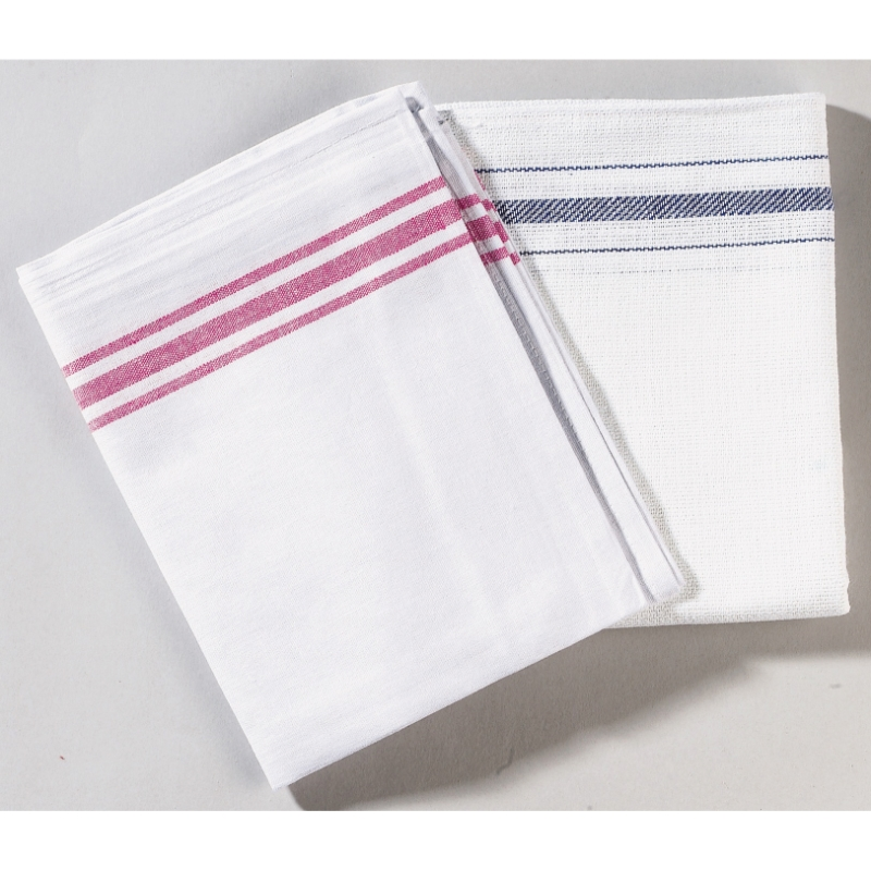 Cotton Tea Towels 48cm x 74cm, White Pack of 10