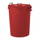 Colour Coded Food Grade Dustbin (Red)