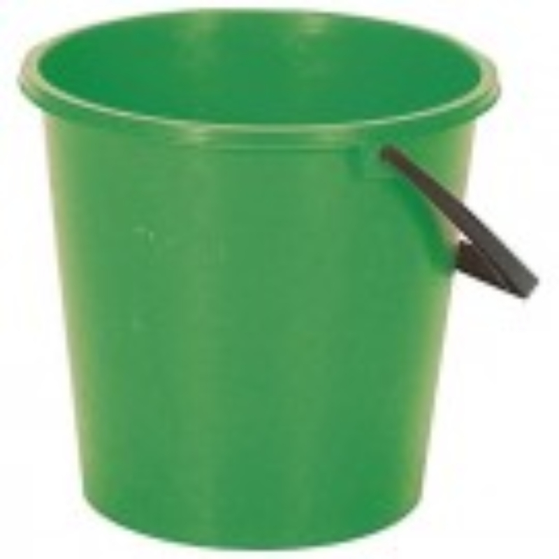 2 Gallon Round Bucket Green