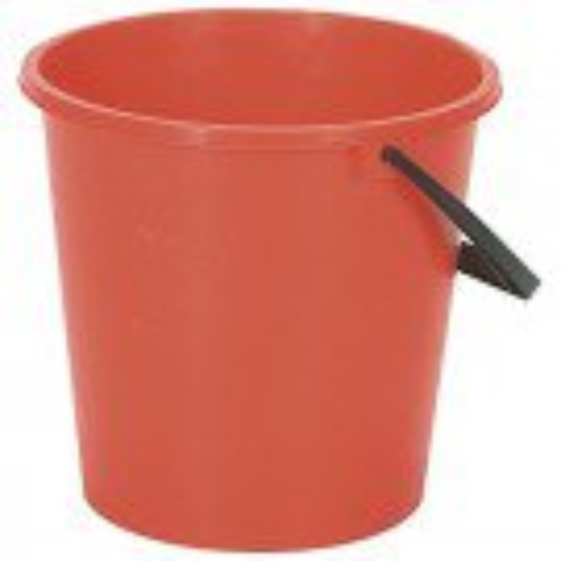 2 Gallon Round Bucket Red