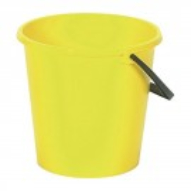 2 Gallon Round Bucket Yellow