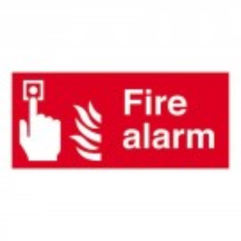 Fire Alarm symbol with flames 100x200 S/A