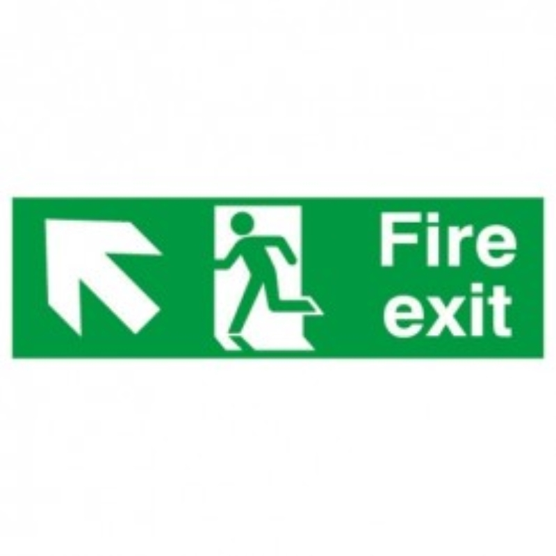 Fire Exit Arrow Up and left