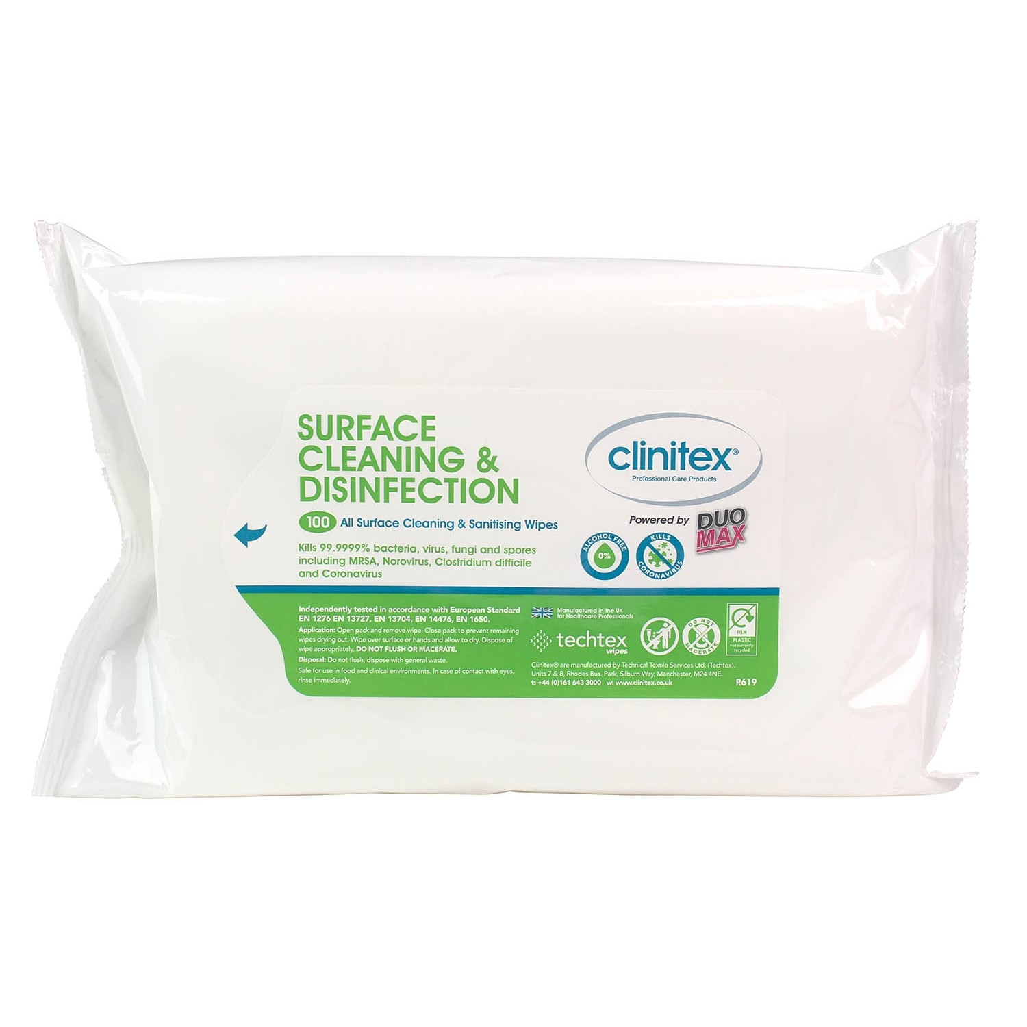 Clinitex Multi Surface Cleaner Disinfectant Wipes 27x20cmx100