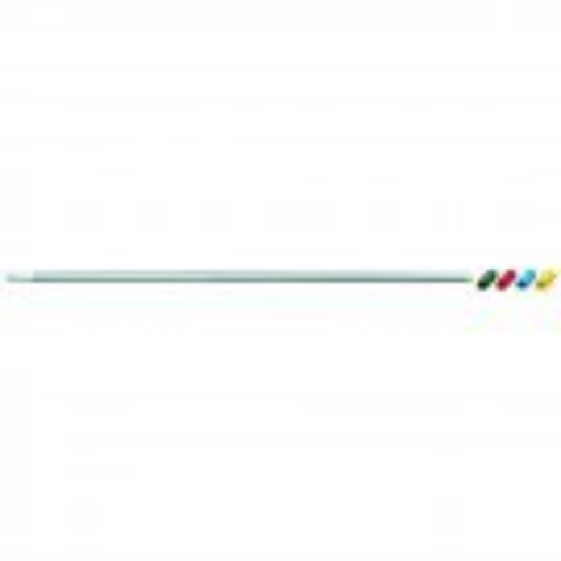 Lightweight Aluminium handle with colour grip 1270mm White