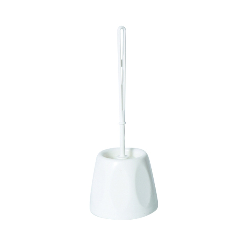 Open Toilet Brush & Holder - White