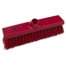 Premier Flat Sweeping Broom, Soft 280mm Red
