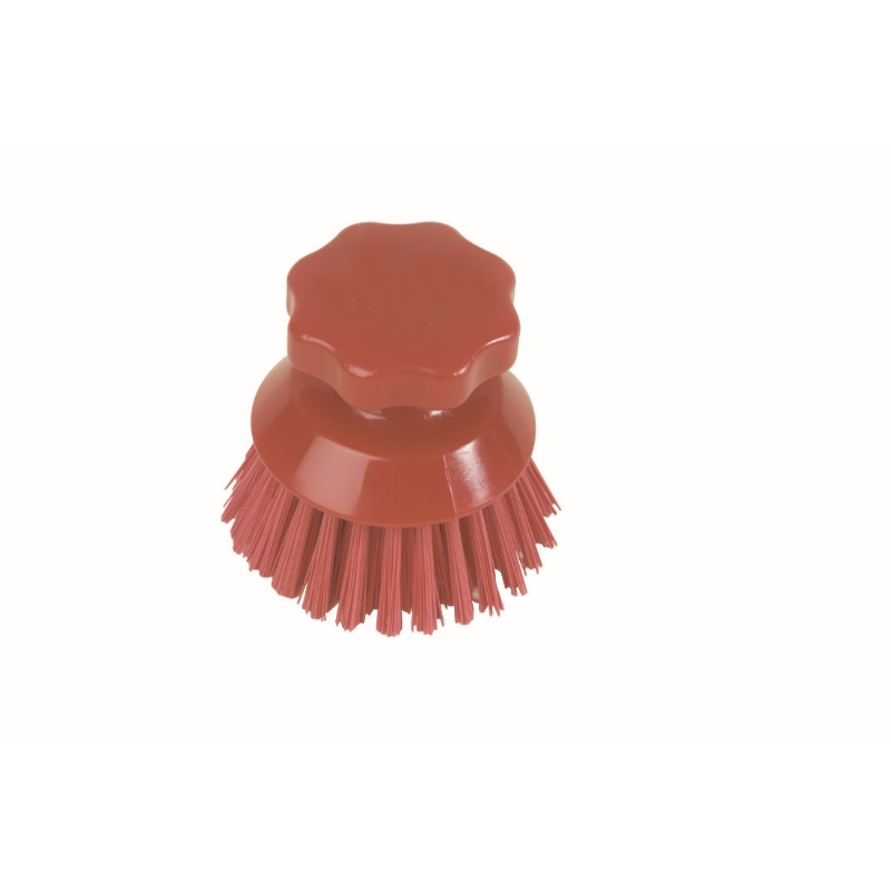 Round Hand Scrubbing Brush Red