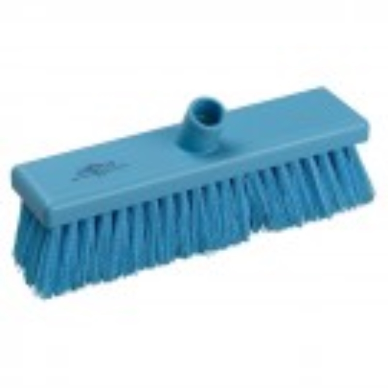 Blue Hygiene Flat Sweeping Broom in Medium 300mm