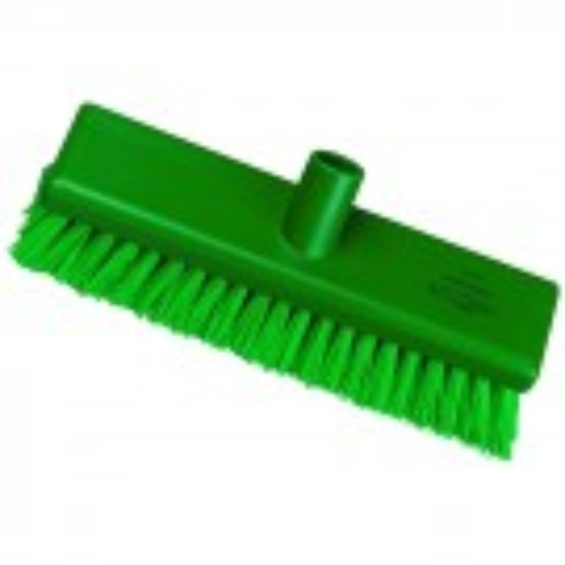 Green Hygiene Flat Sweeping Broom in Medium, 300mm