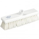 White Hygiene Flat Sweeping Broom in medium 300mm