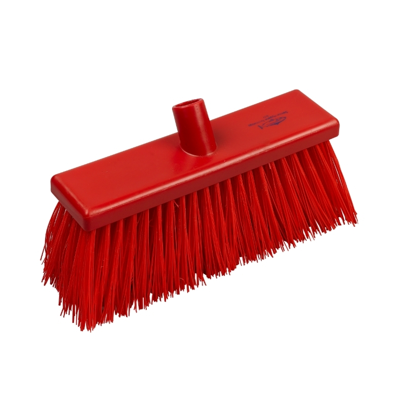Yard Broom Stiff 300mm Red #
