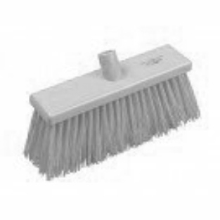 Yard Broom Stiff 300mm White #