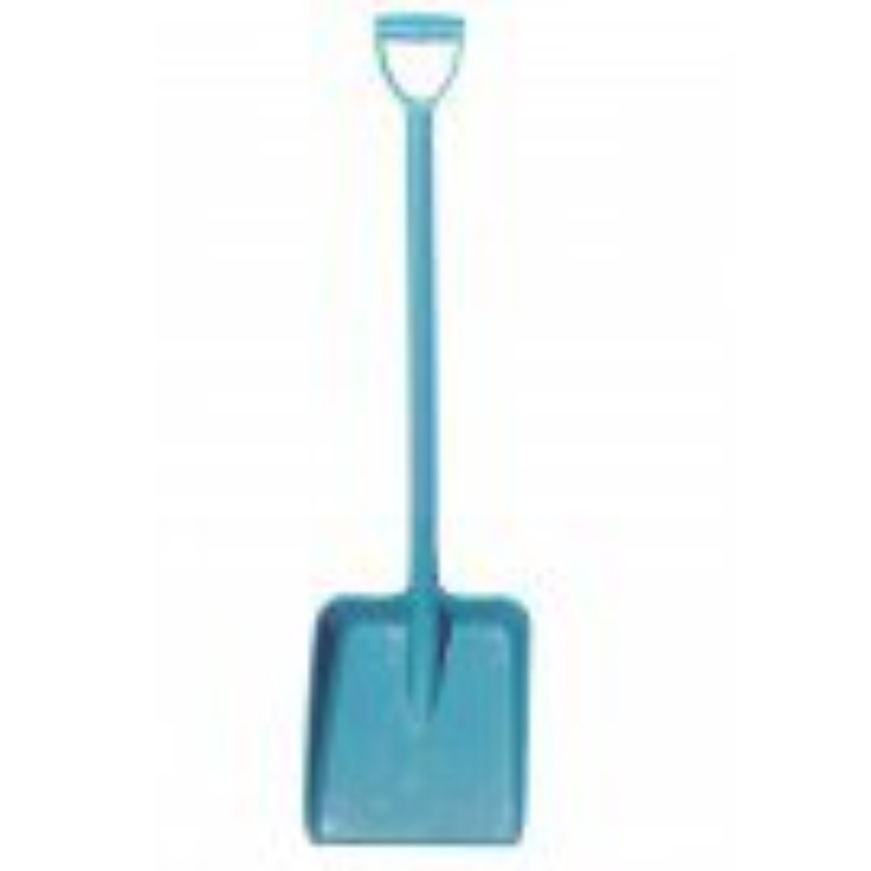 Heavy Duty Hygiene D Grip Shovel, Blue