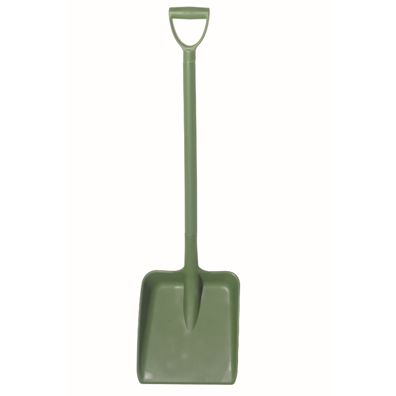 Green Heavy Duty D Grip Hygiene Shovel