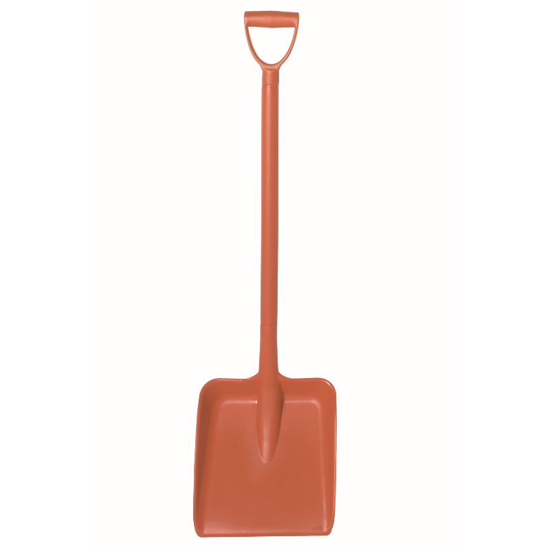 Red Heavy Duty D Grip Hygiene Shovel