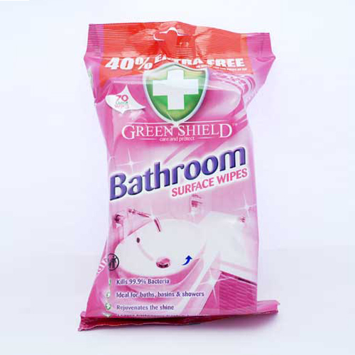 Greenshield Bathroom Surface Wipes (Anti Bac) x70