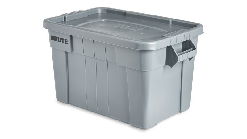 BRUTE TOTE 75.5L GREY X 6 # with lid