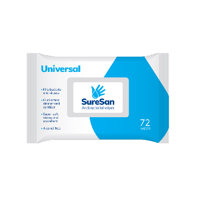 Suresan Anti Bacterial Universal Wipes pack of 72