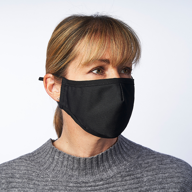 Washable Face Mask Black with Filter