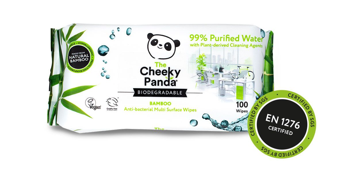 Cheeky Panda Anti-bac wipes x100 X 6 PACKS